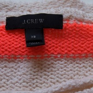 J. Crew XS Orange Cream Striped Sweater